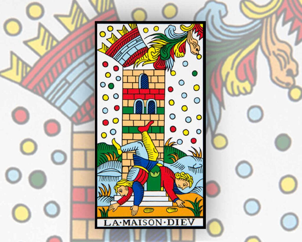 Passion-Tarot-arcanes-majeurs-maison-dieu-interpretation